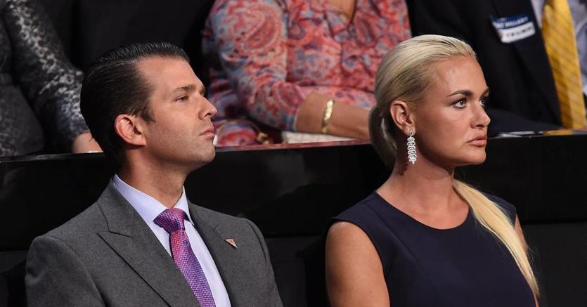 Donald Trump Jr con la moglie Vanessa